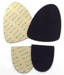 SUEDE-M Stick-on Suede Sole kit with industrial-strength adhesive backing, medium size, avail. in black, light tan, light gray