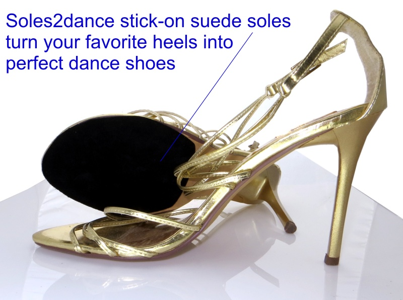 Suede Stick On Soles Dance Shoes